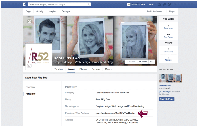 5-Facebook-Page-web-address